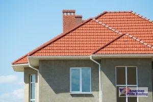 orange stone coated steel roof