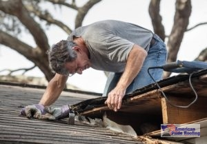 roofer finds hole in roof while inspecting roof