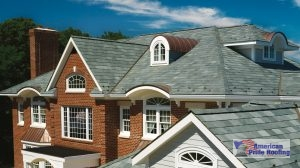 synthetic shingles on large home