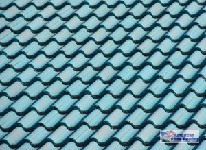 blue clay tile roof