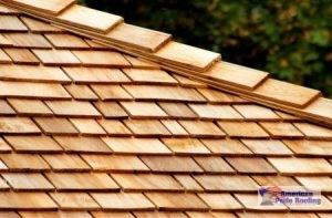 synthetic shake shingle on roof