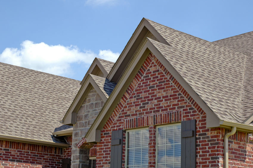A Picture of Asphalt Shingles with Gables.