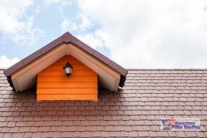 brown metal shingles on roof