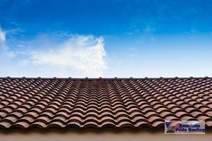 barrel ceramic tile on roof