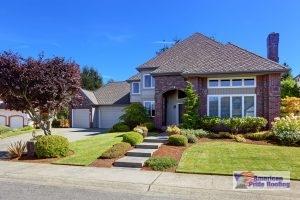 slate roof on suburban home