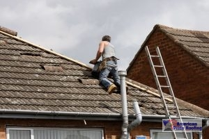 roofer repair tile roof on a home